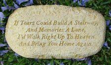 Inspirational Tears Memorial Rock Stone Concrete Garden Ornament Statue