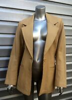 VAKKO Tan Leather Jacket Pants Suit