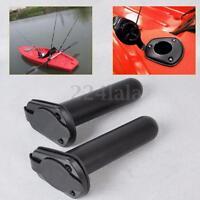 2 Pcs Plastic Flush Mount Fishing Boat Rod Holder and Cap Cover for Kayak Pole