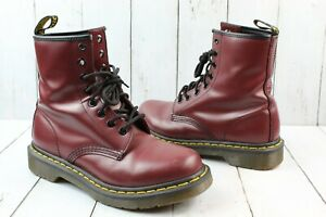 Dr. Marten's 1460 Smooth Leather Lace Up Boots in Cherry Red WMNS Sz 6 (Men 5)