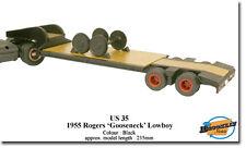 "Rare ! Rogers ""Gooseneck"" Lowboy Trailer 1955 US Mint model Brooklin US 35 1/43"