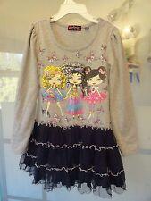 Tempted Girls Tulle Skirt Long Sleeve Top Dress - SZ 4