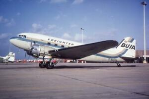 35mm Aircraft Slide BUIA Freighter G-AMRA Douglas C-47 Skytrain