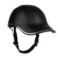 Adjustable Bike Helmet Men Anti-UV Skateboard Equestrian Baseball Cap Black