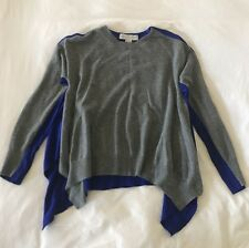 STELLA MCCARTNEY Grey Wool Sweater with Striking Blue Back - Size 42 Made Italy