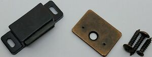 Brown & Black Plastic Magnetic Catch with Fixed Strike Plate lock mailbox cabine