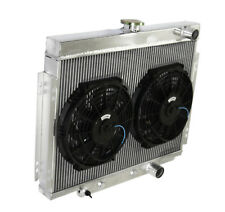 "3 Core Passenger/Right SIde Radiator+Shroud+10"" Fan for 67-70 Ford Mustang V8 MT"
