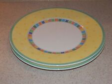 VILLEROY AND BOCH CHINA TWIST ALEA LIMONE 2 SALAD PLATES 8 1/2""