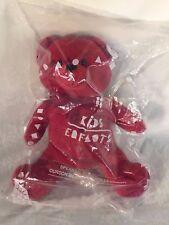 "Avon Speak To The Heart 12"" Plush Red Bear 2001 New in Sealed Original Bag"