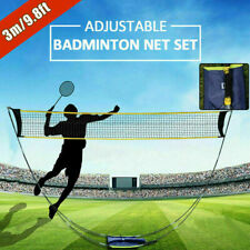 3M Portable Badminton Volleyball Tennis Net Stand / Frame Set with Carry Bag