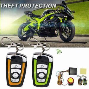 Système dalarme de sécurité Anti-vol pour moto et Scooter,avec télécommande