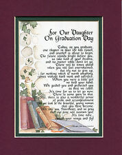 #140 Gift Present Keepsake Poem for a daughter's graduation.