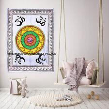 Indian Hand Paint Om Mandala Print Tapestry Wall Hanging Poster Bohemian Decor
