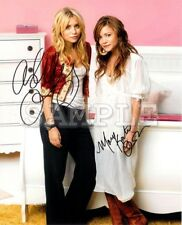 Mary Kate & Ashley Olsen signed 5x7 Autograph Photo RP - Free ShipN! Twins