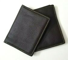Lot of 3 FOSSIL ID or Credit Card Holder Brown with Plastic
