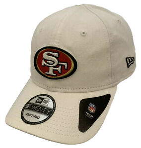 New Era San Francisco 49ers 920 9Twenty Adjustable Baseball Cap All White