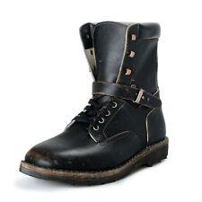 Maison Margiela 22 Men's Distressed Leather Combat Boots Shoes US 13 IT 46
