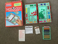Vintage 1997 Travel Monopoly Waddingtons Game - Suitcase Edition Travel Game.202