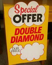 RARE ORIGINAL 1970,s DOUBLE DIAMOND PROMOTIONAL SHELF  BAR DISPLAY POSTER