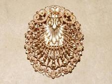 VTG Antique Brevete SGDG Goldtone Scrolled Filigree Pin Brooch Dress Clip France
