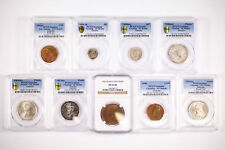 9x PCGS & NGC Graded 1919 - 1963 Australia & NZ Half Penny - Florin EF - UNC