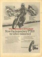 Dunlop TT100 Tyres Motorcycle 1976 Magazine Advert #1038