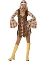 GROOVY BABY COSTUME DISCO 1970S 1960S GROOVY RETRO HIPPY HIPPIE DRESS WOMENS
