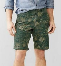 NWT $45 GAP 100% Cotton LIVED IN Green Camo Floral Bermuda Walking Shorts 38
