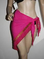 Sciarpa/pareo/foulard Donna scialle con frange rosa acceso
