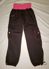Zumba Wear Womens Activewear Cargo Pants Black w/ Pink Size Small