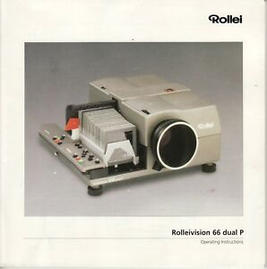 Rollei Rolleivision 66 Dual P Genuine Instruction Book, Manual, Instructions
