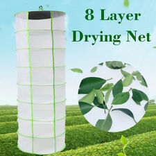8 Tier Hydroponic Hanging Dry Rack Grow Tent Herb Bud Plant Clothes Drying Net