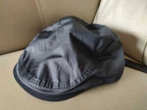 NWT TED BAKER FLAT CAP 60cm CHARCOAL PLAIN NYLON PEAKY BLINDERS PAISLEY LINED