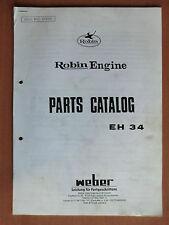 Ersatzteilliste Robin EH 34 Motor Weber Verdichter Rüttelplatten parts catalog