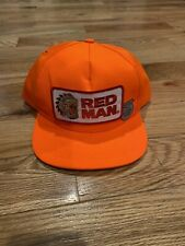 Red Man Vintage Snapback Hat Tobacco Mint Blaze Orange