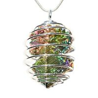 "CHARGED USA Grown Bismuth Crystal Perfect Pendant™ + 20"" Silver Chain"