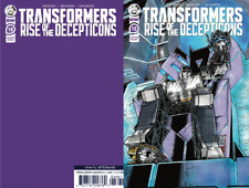 Transformers #19 Convention Exclusive Variant PURPLE BLANK BACK COVER NM+