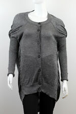 VIVIENNE WESTWOOD ANGLOMANIA WOMEN'S GRAY CARDIGAN SWEATER SIZE S