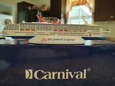 Carnival Legend Model Resin Cruise Ship.(MINT), New in Box 12inch & Free Magnet