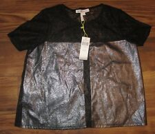 BCBG Generation Womens Top, Blouse, Lace Back, Black, Size S, New, Reg $88