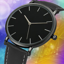 Luxury Men Classical Leather Analog Quartz Watch Gentleman Wrist Dress Watches