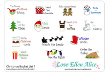 Christmas activity to do list List planner /calendar stickers, 4 for price of 3