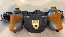 Nathan Running Hydration Belt: Two, 10 Oz. Bottles: Orange and Grey