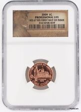 2009 Lincoln Professional Life Bicentennial Cent Penny 1C NGC MS67RD First Day