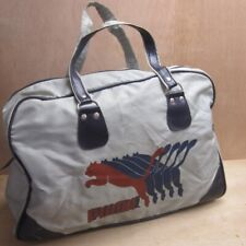 04471b9337 Puma Vintage Retro Holdall Gym Bag Grey + Blue 1980s 80s Free UK P+P