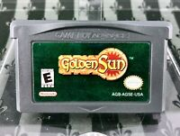 Golden Sun (Nintendo Game Boy Advance, 2001) - CART ONLY - AUTENTIC, TEST SHOWN