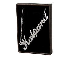 """Name Necklace """"KALAPANA"""" - 18ct White Gold Plated - Made With Swarovski Elements"""