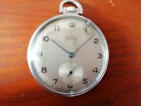 Vintage MOERIS,1930s/1940s 15 Jewels slim Swiss Pocket Watch. Works occasionally