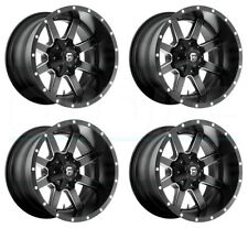 "4-New 18"" Fuel Maverick D538 Wheels 18x9 8x6.5/8x165.1 -12 Black Milled Rims"