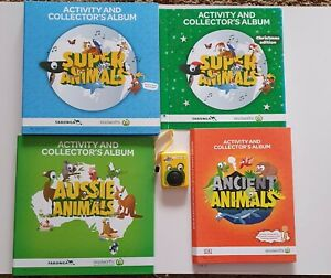 4x Woolworths Animal Folders Complete Sets: Super (& Xmas), Ancient and Aussie